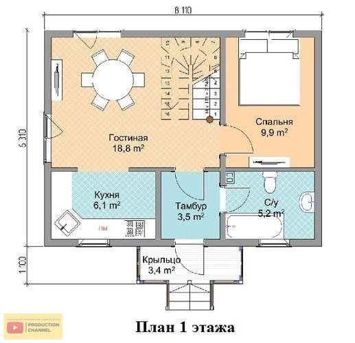 Проект 86 план 1 этажа
