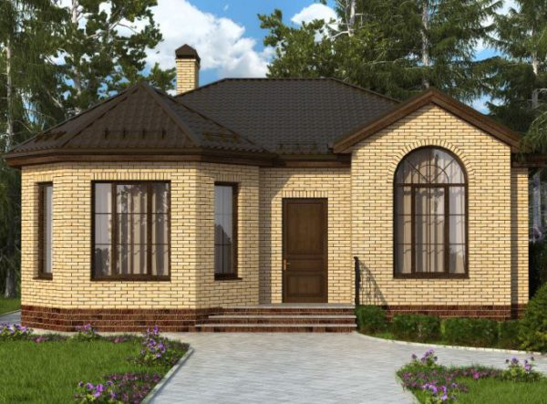 Проект одноэтажного дома 94кв с двумя спальнями